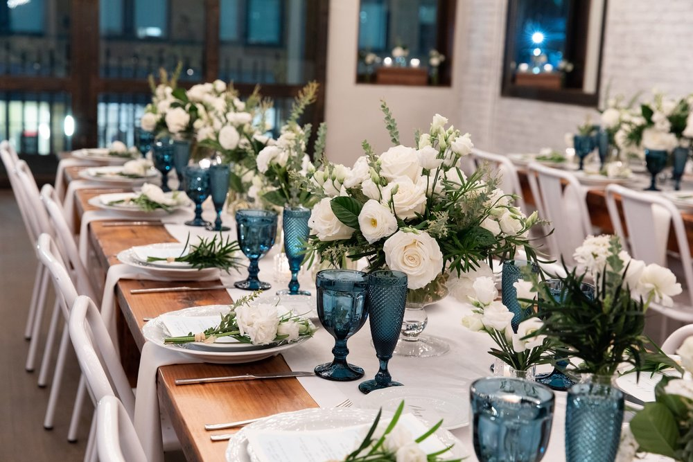 White And Greenery Tablescape- B Floral