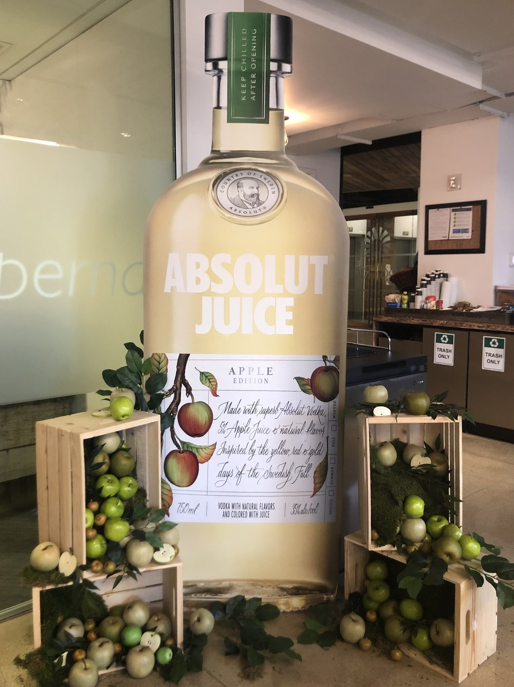 Absolut Juice Display Stand- B Floral