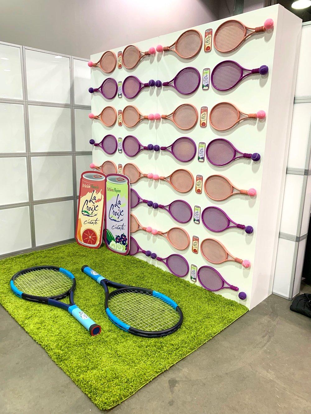 LaCroix Tennis Racquet Wall- B Floral