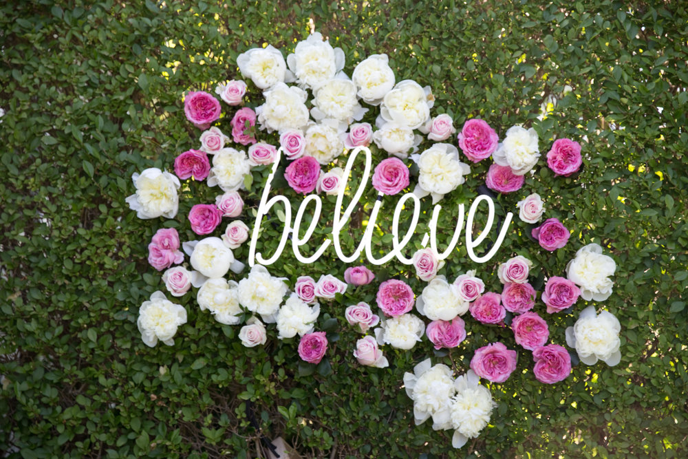 Believe Neon Sign Install- B Floral