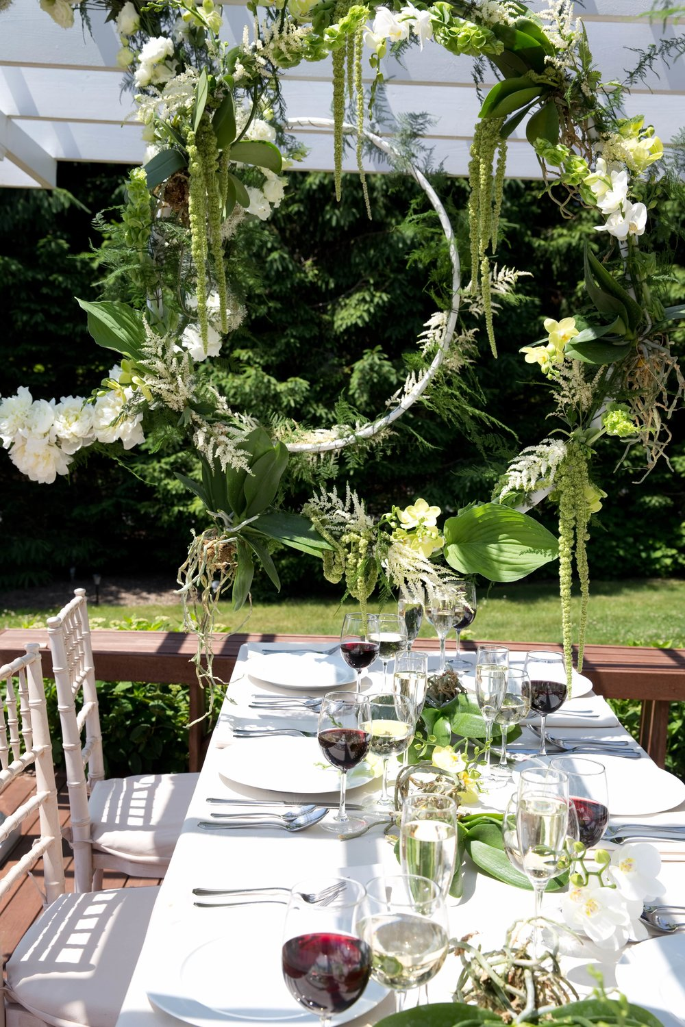 Greenery Hanging Tablescape- B Floral