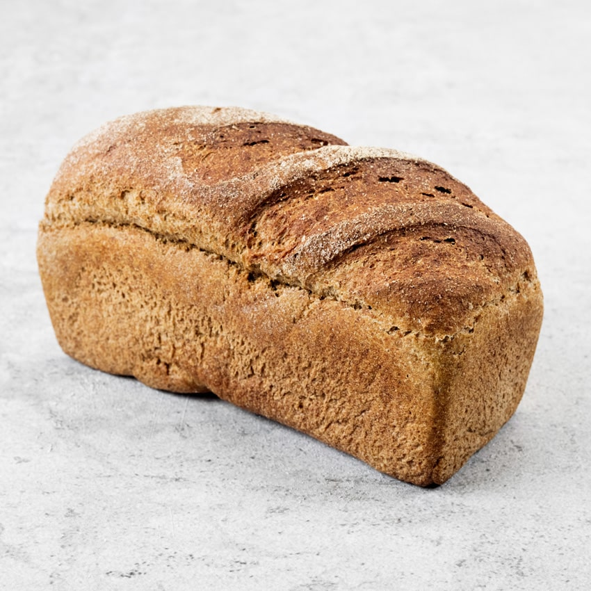 WHOLEMEAL  Made from a 100% Boston Stone Ground Wholemeal flour from Maud Foster Windmill with a distinctive taste of wheat. The loaf is great toasted or used for sandwiches and is brilliant for digestion.