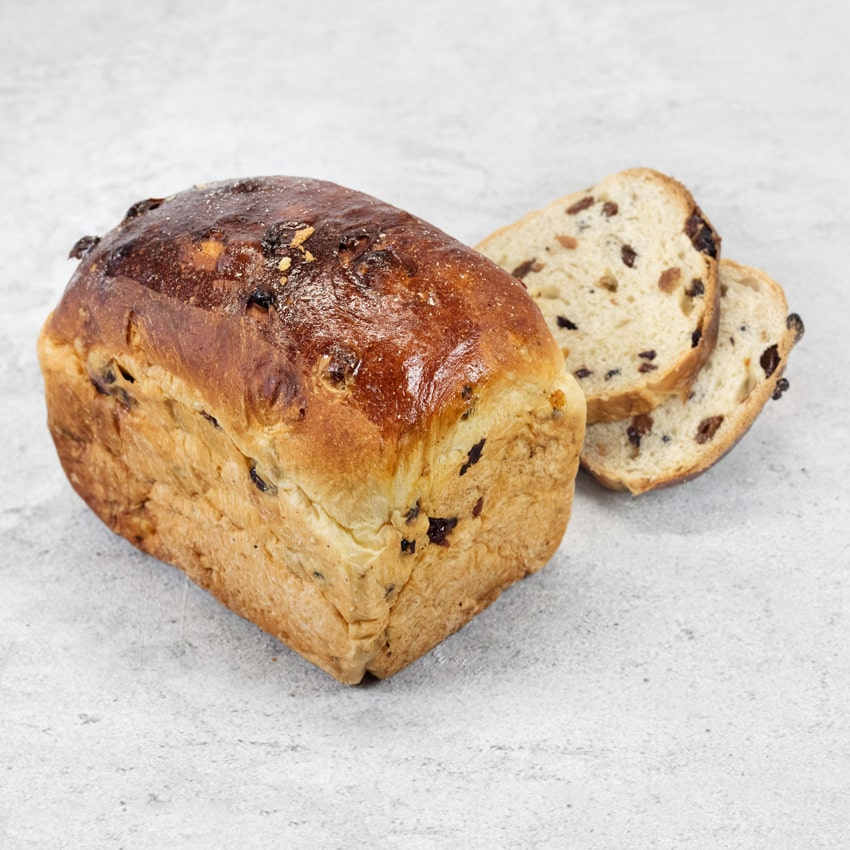 FRUIT LOAF  An old Carter recipe is full of fruit which have been soaked in English breakfast tea. The dough is enriched with milk, eggs and sugar. Ideal toasted and buttered.