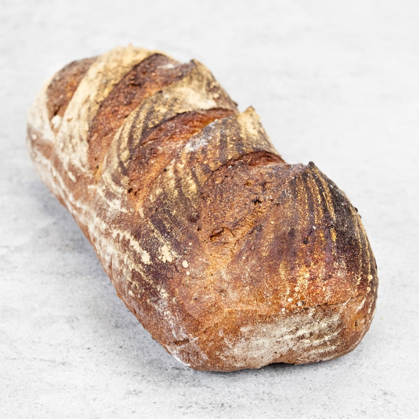 CEREAL BLOOMER  Made from flour imported from a French watermill, similar to a granary bread but with its own distinctive flavour