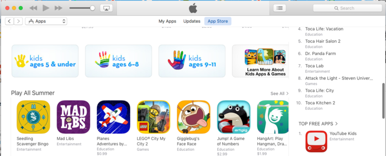 Featured in the  Fun All Summer  category in the Appstore