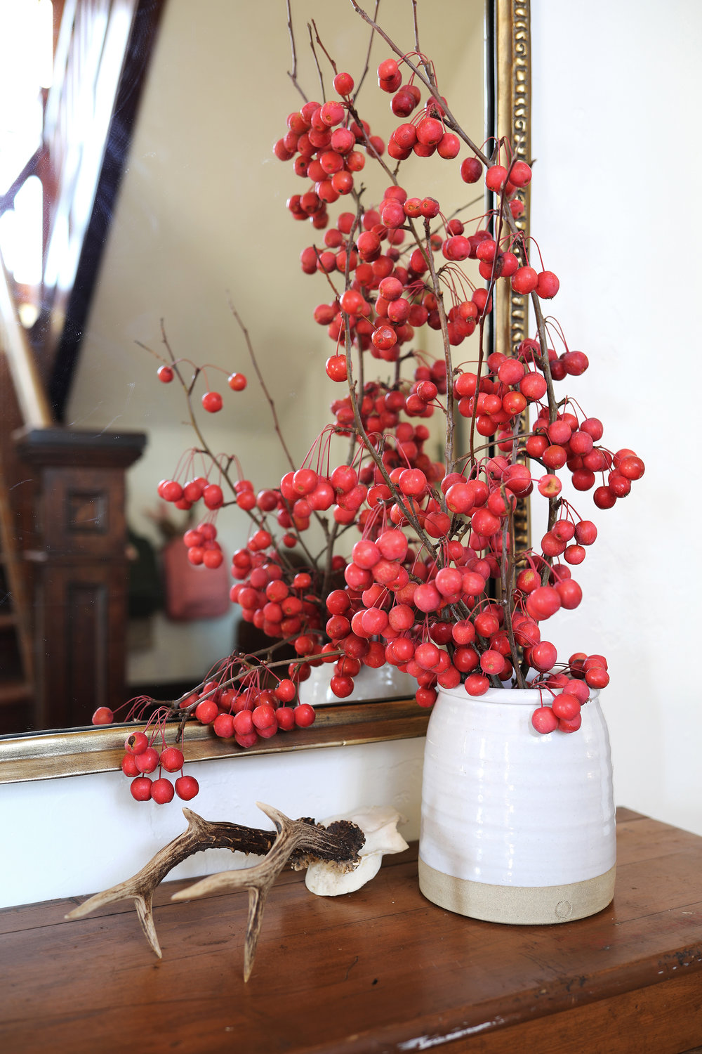 The Grit and Polish - Farmhouse Entryway Table + Crab Apples.jpg