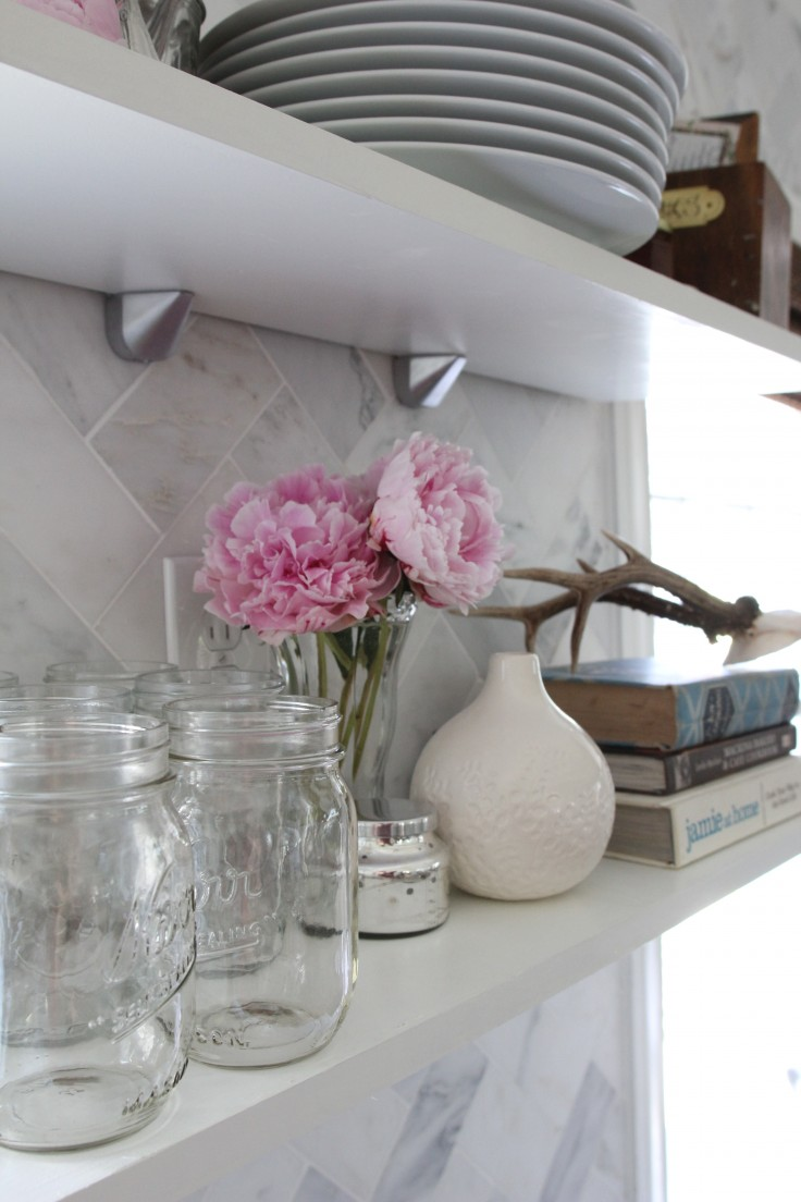 Kitchen Open Shelves Painted Simply White