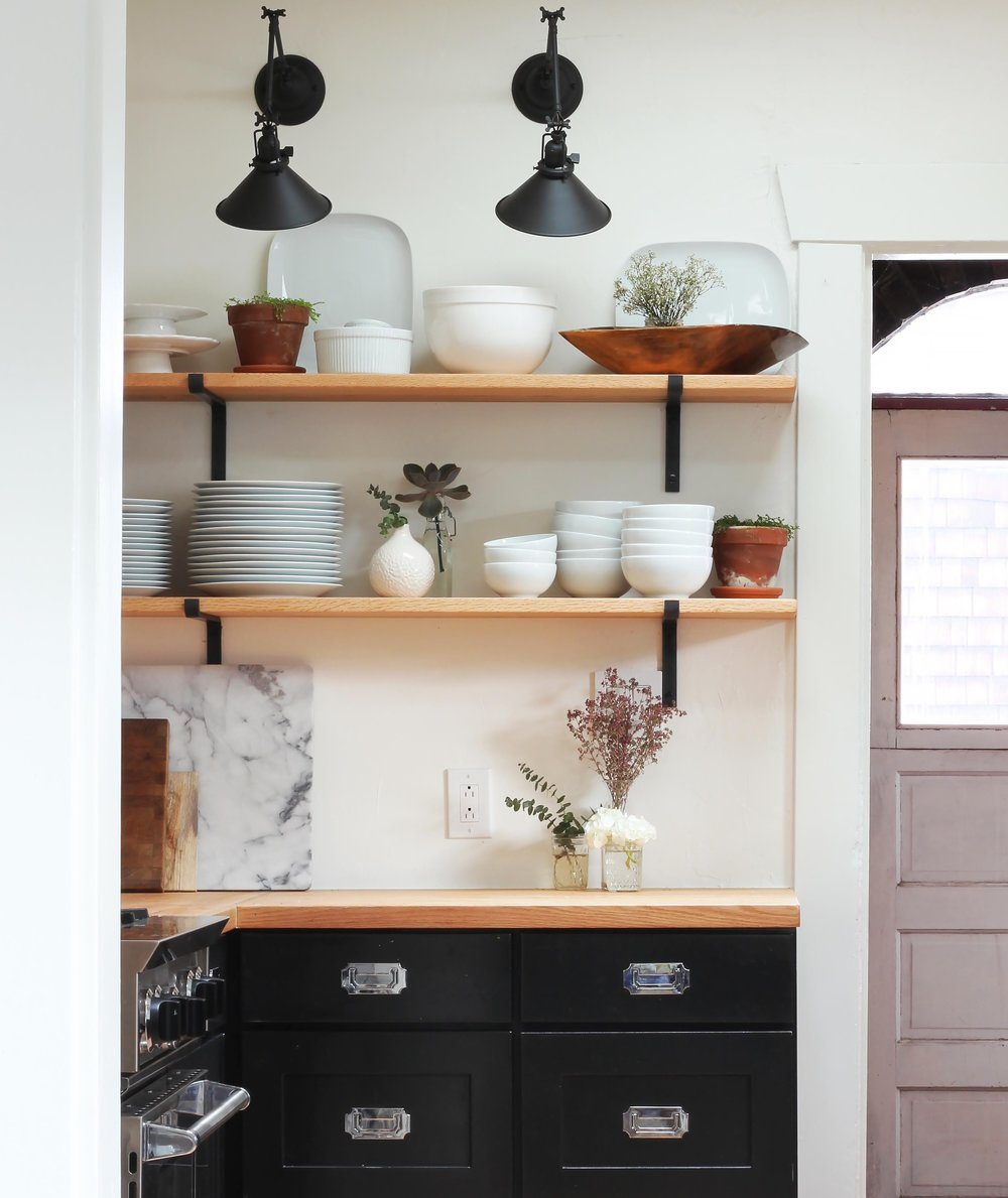 The Grit and Polish - Dexter Kitchen Renovaiton Open Shelves