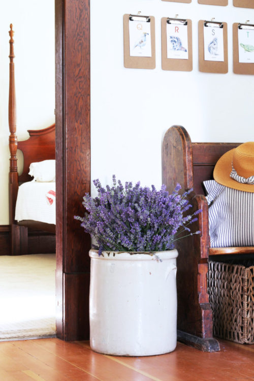 The Grit and Polish - Farmhouse Lavendar Entry Crock