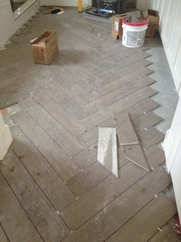 Herringbone Wood Tile Floor Inspiration 5-2-14