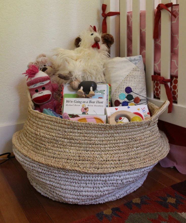 Winnies Nursery Toy Basket from Serena and Lily
