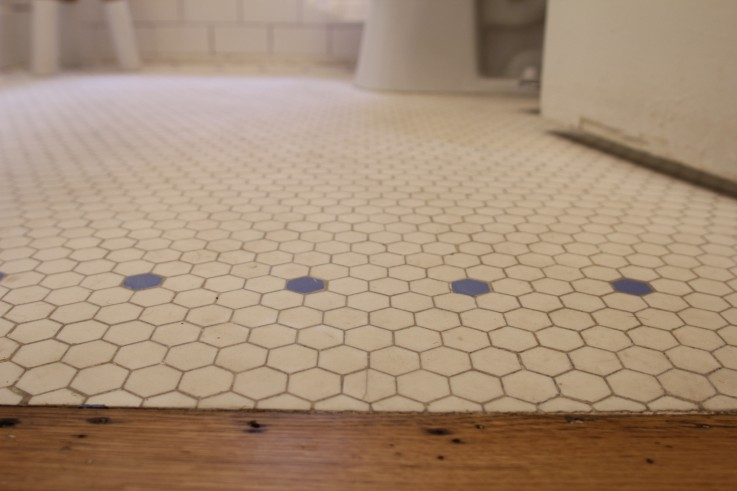 Original porcelain hexagon tiles