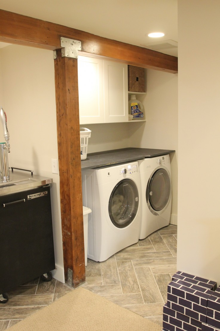 Basement Laundry Room - Painted
