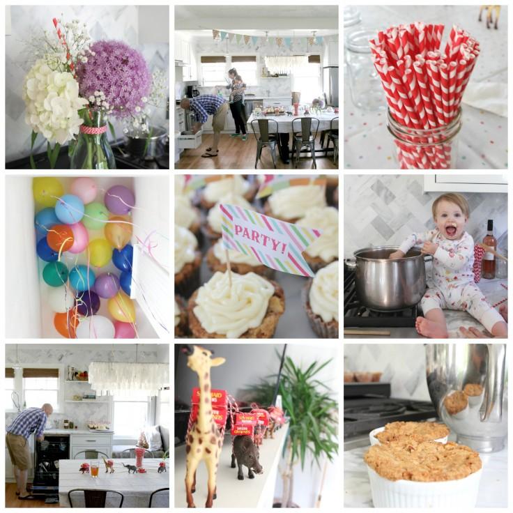 Wilder's First Birthday Party Collage 2 6-22-14