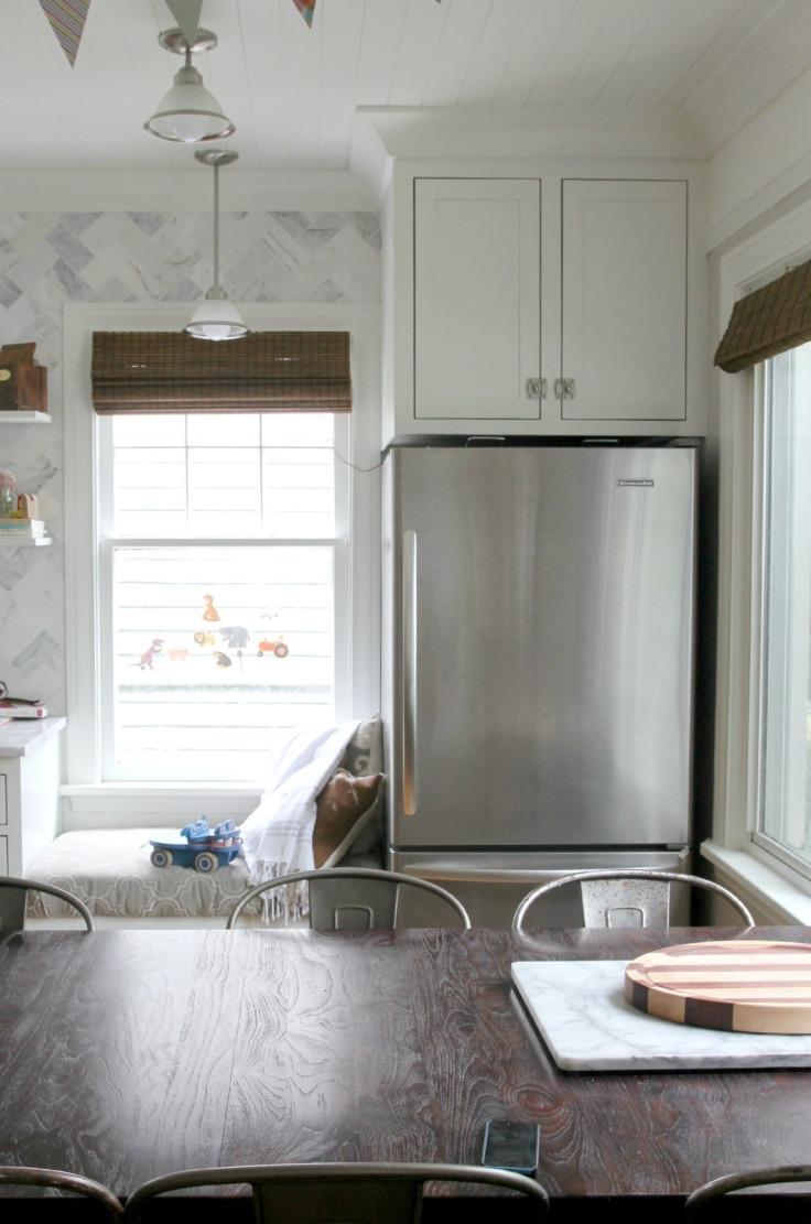 Kitchen Fridge and Bench