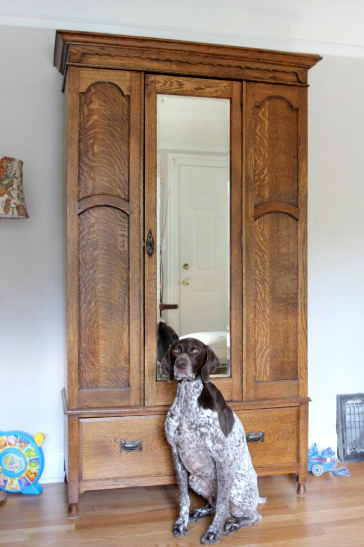 Ravenna House - Bubba at coat closet.jpg