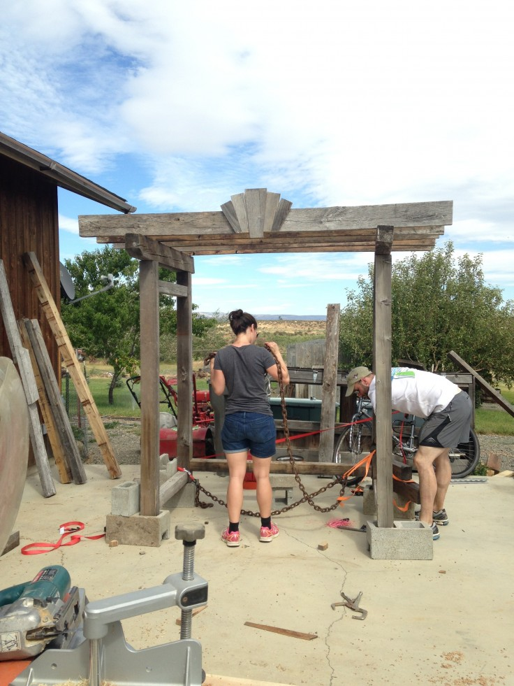 Building a Wedding Arbor 1
