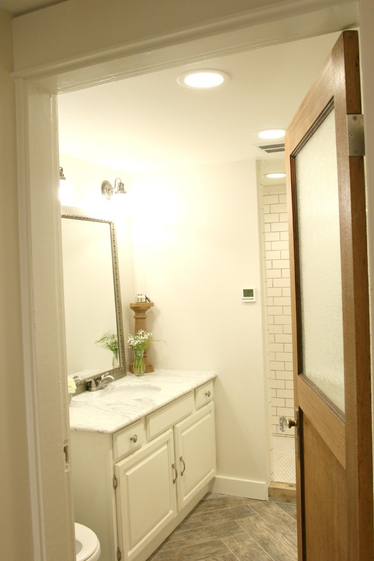 The Grit and Polish - Basement Bathroom Remodel
