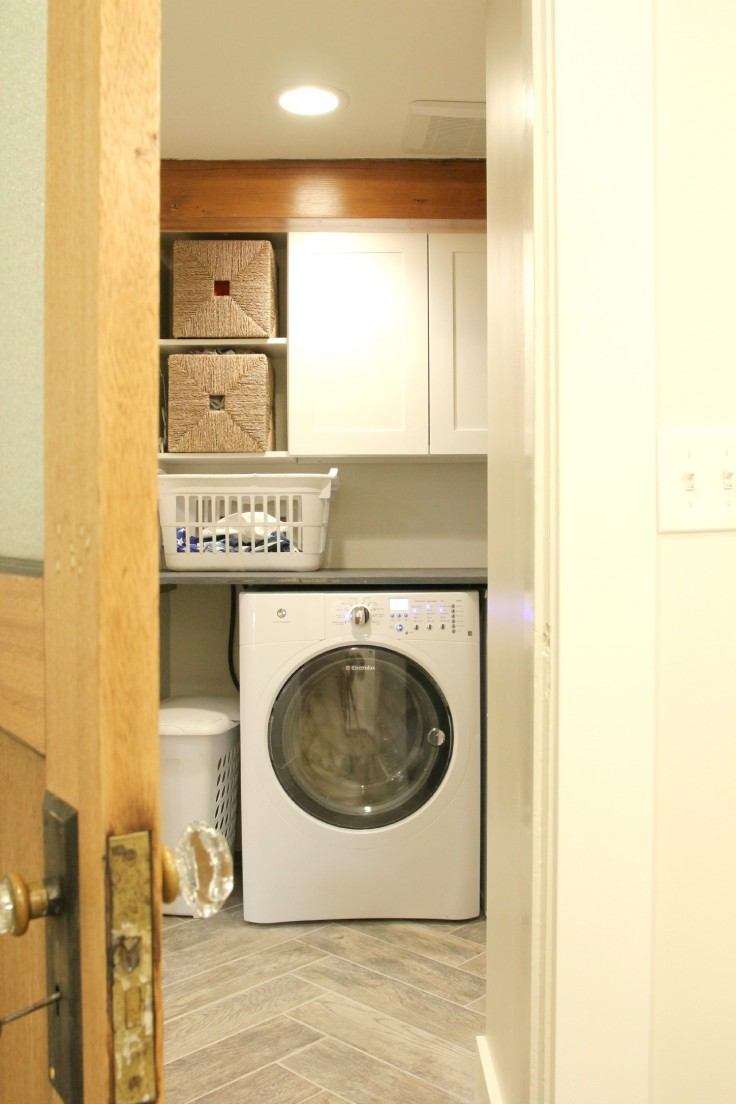 The Grit and Polish - Laundry Space Viewed from Bathroom