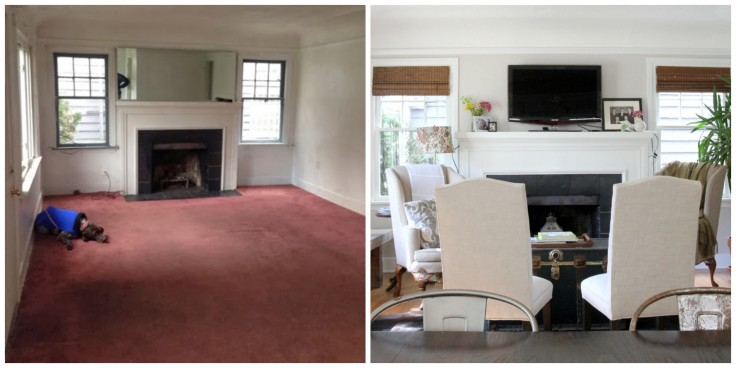 The Grit and Polish - Living Room Before and After