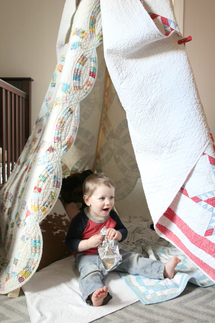 The Grit and Polish - Antique Quilt Teepee with Wilder