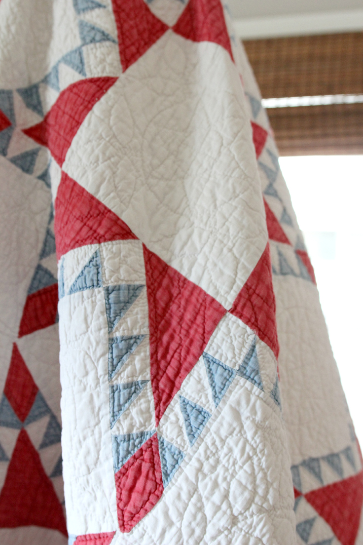 The Grit and Polish - DIY Teepee antique quilt 2