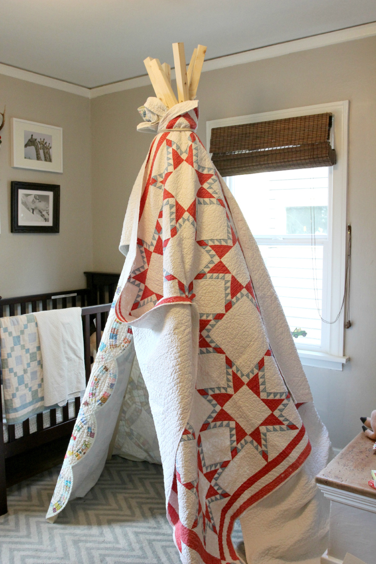 The Grit and Polish - DIY Teepee finished