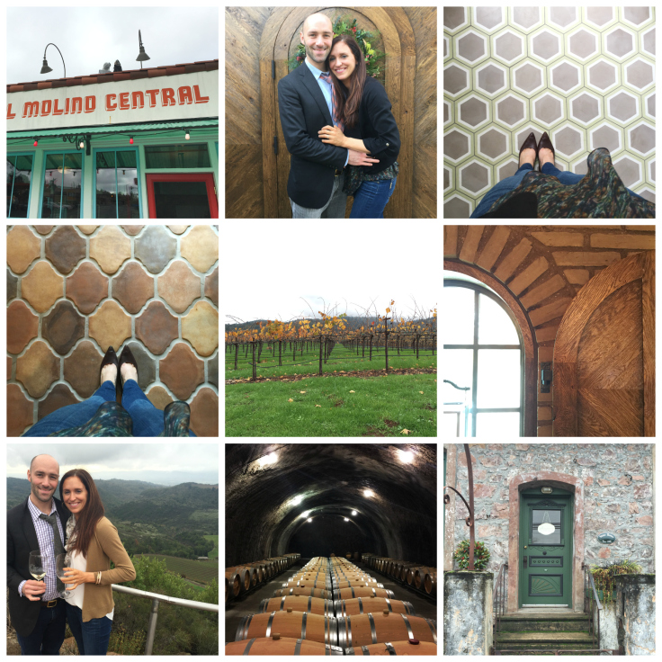 The Grit and Polish - Sonoma Wine Trip Collage 2