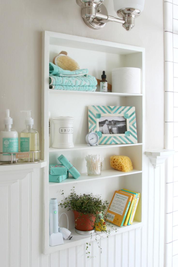 The Grit and Polish - Bathroom open shelves