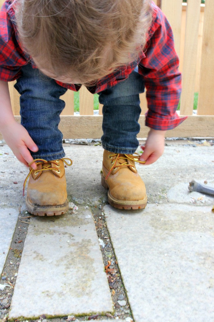 The Grit and Polish - Wilder in his work boots 22 months 5
