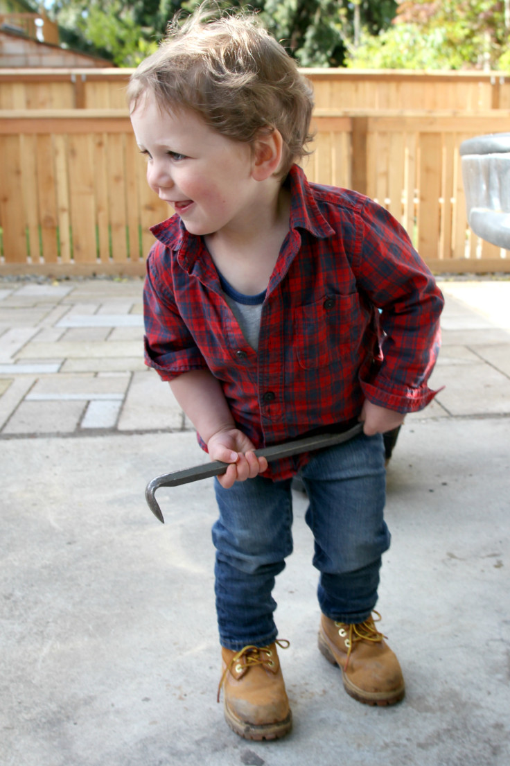The Grit and Polish - Wilder in his work boots 22 months