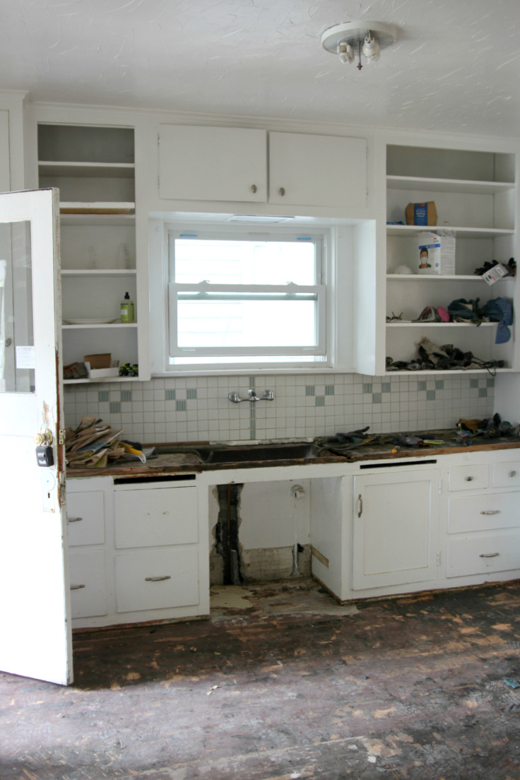 The Grit and Polish - Kitchen Demo Cabinets