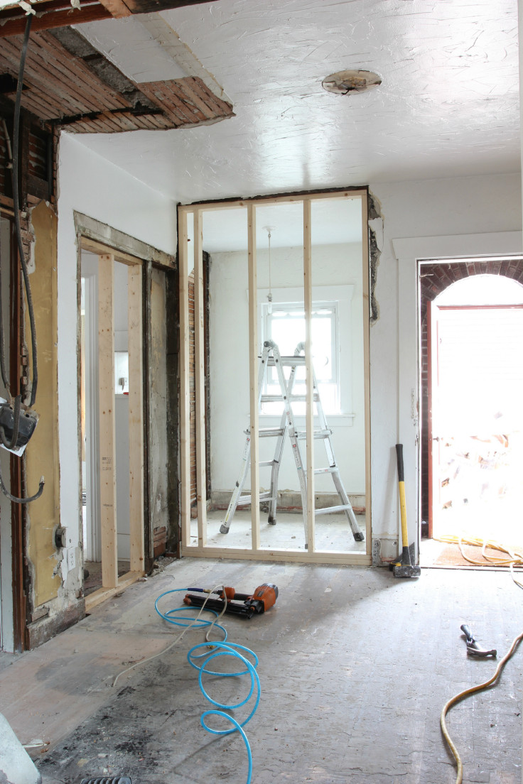 The Grit and Polish - Kitchen Framing Done