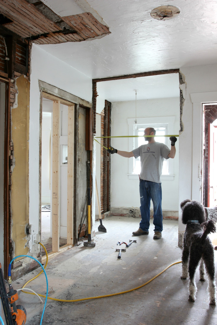 The Grit and Polish - Kitchen Framing Opening