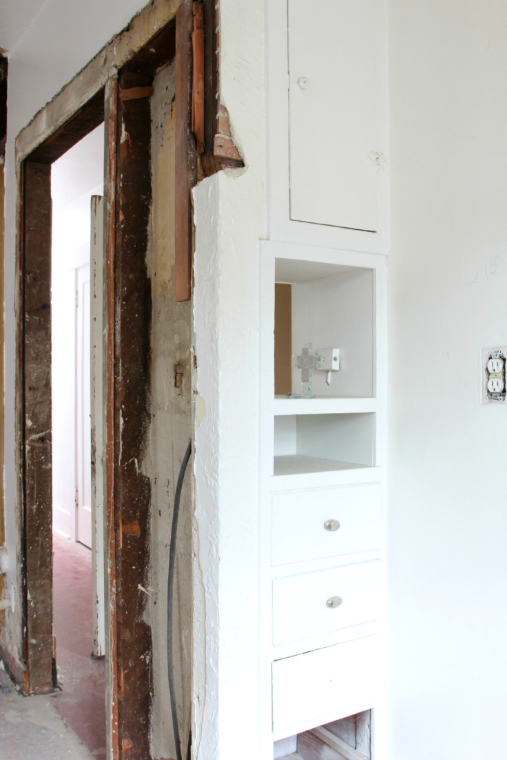 The Grit and Polish - Master Bath Cabinet