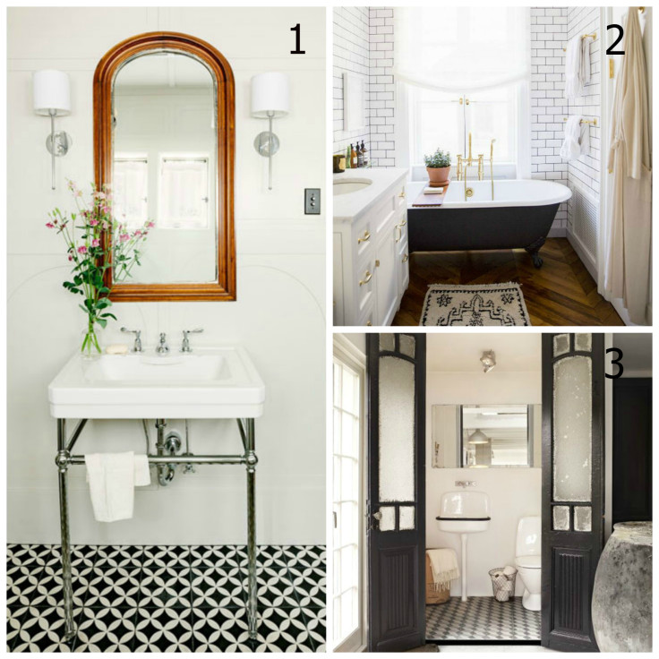 The Grit and Polish - Master Bath Collage with numbers