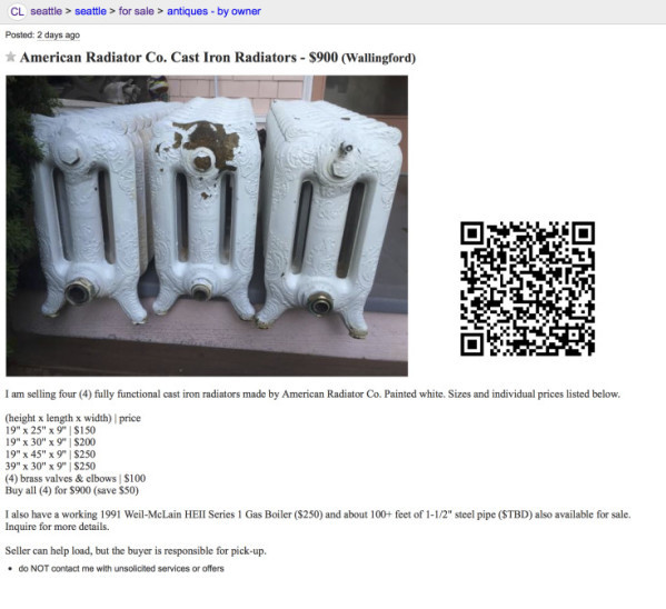 CL American Radiator Co. Cast Iron Radiators 6-10-15 copy