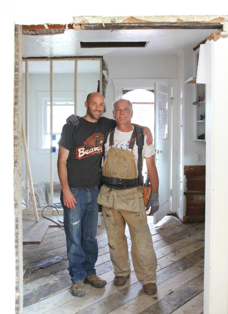 The Grit and Polish - Kitchen progress Garrett and Papa