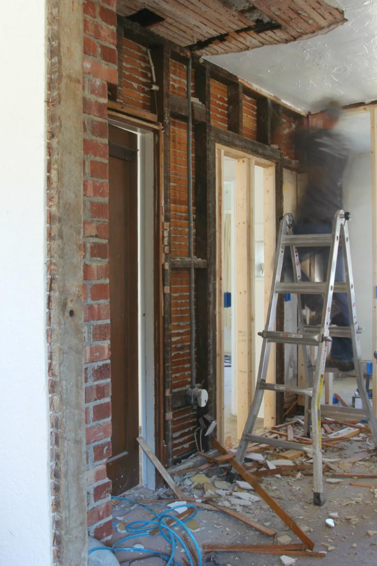 The Grit and Polish - Kitchen progress north wall