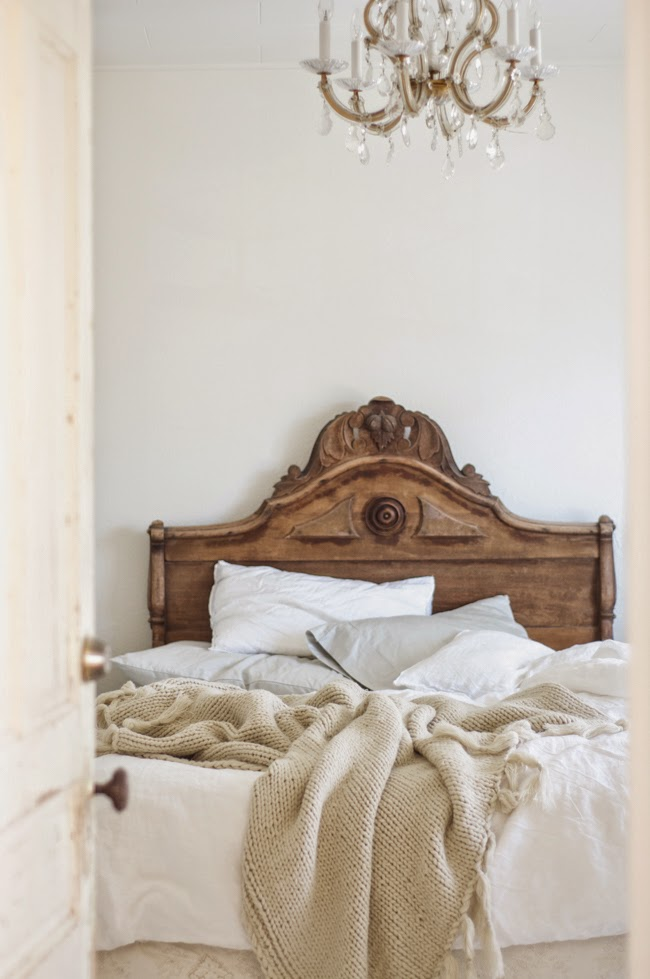 The Grit and Polish - Master Bedroom Inspiration Vintage Whites Blog