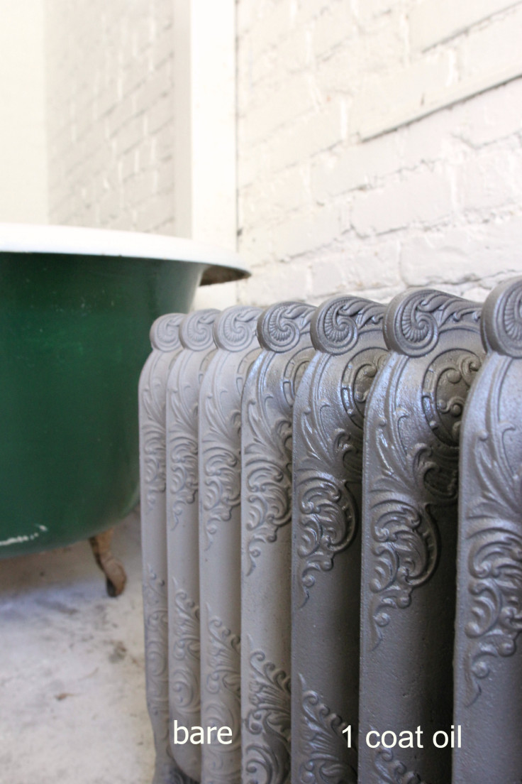 The Grit and Polish - Sealing cast iron radiators (bare and 1 coat)