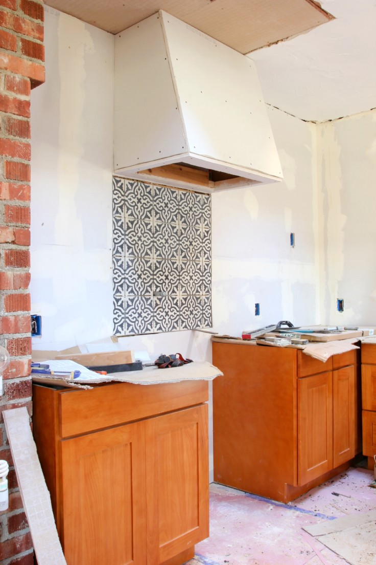 The Grit and Polish - Cement Tile Backsplash