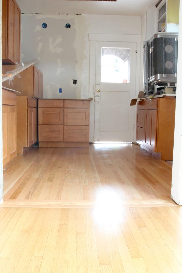 The Grit and Polish - Hardwood Refinish Kitchen
