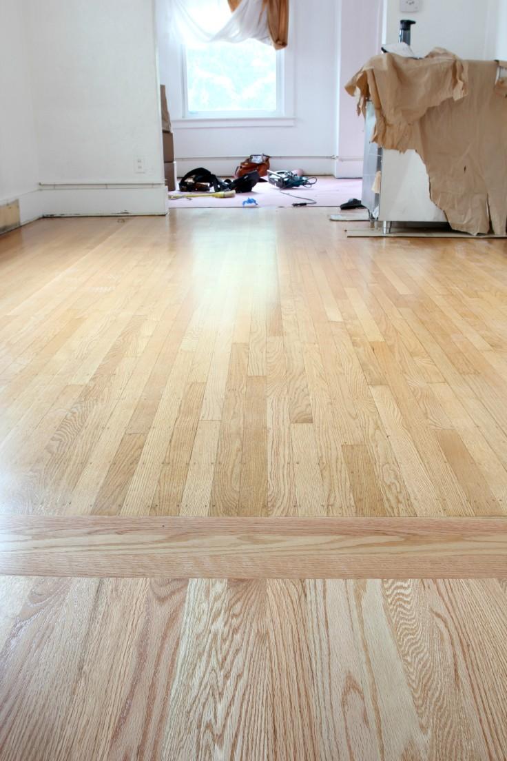 The Grit and Polish - Hardwood Refinish transition