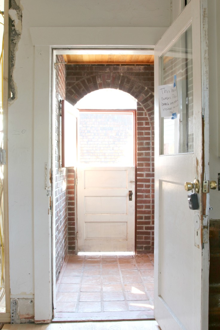 The Grit and Polish - Mudroom from kitchen