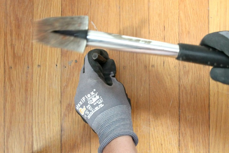 The Grit and Polish - countersinking top nails in hardwood floors