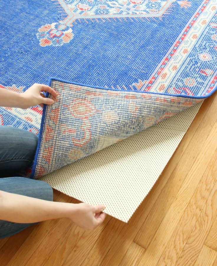 The Grit and Polish - Living Room Rug and Pad