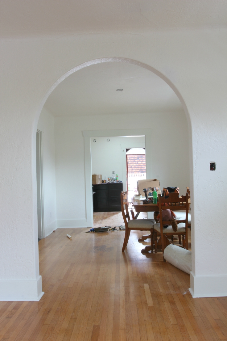 The Grit and Polish - Wall Paint Dining Room CLeanup