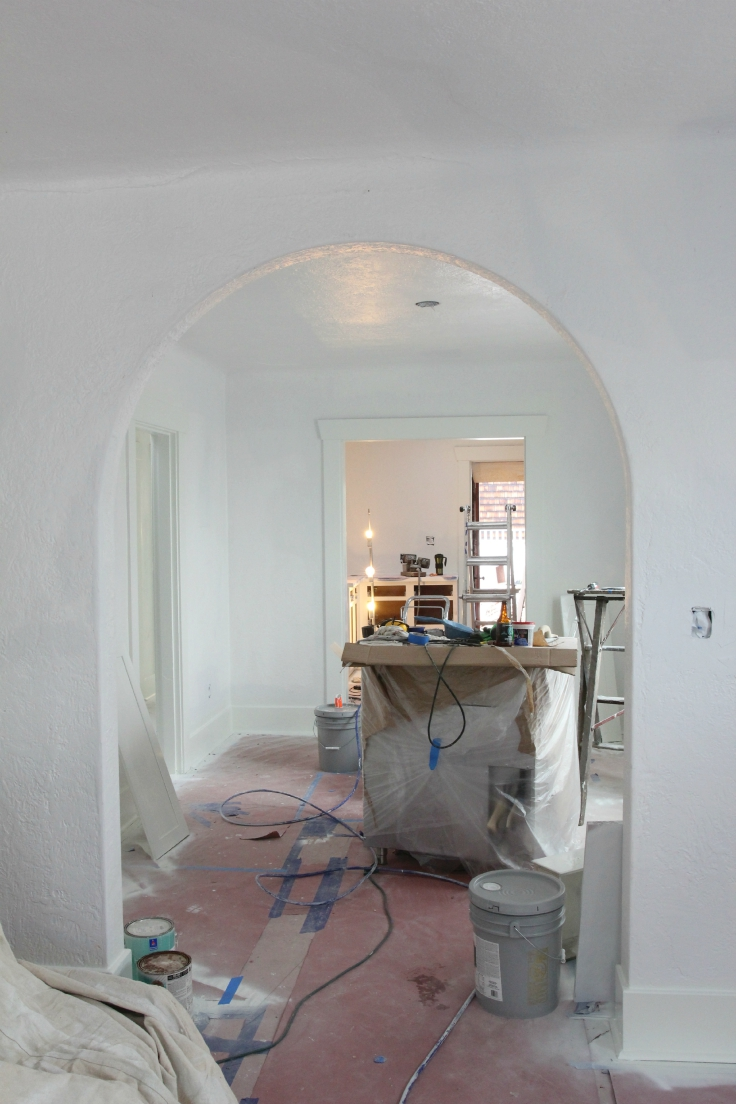 The Grit and Polish - Wall Paint Prep Dining Room