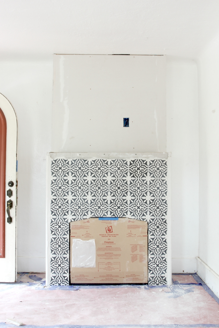The Grit and Polish - fireplace tile 17